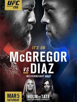 MMA. UFC 196: Конор Макгрегор - Нейт Диас / UFC 196: McGregor vs. Diaz (2016) SATRip
