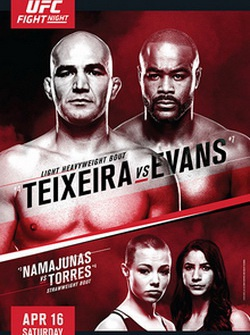UFC on Fox 19: Гловер Тейшейра - Рашад Эванс / UFC on Fox 19: Teixeira vs. Evans (2016) SATRip
