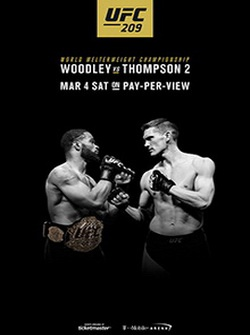 MMA. UFC 209: Тайрон Вудли - Стивен Томпсон 2 / UFC 209: Woodley vs. Thompson 2 (2017) SATRip